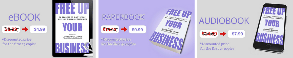 Pre-Order Free Up Your Business ebook paperback audiobook