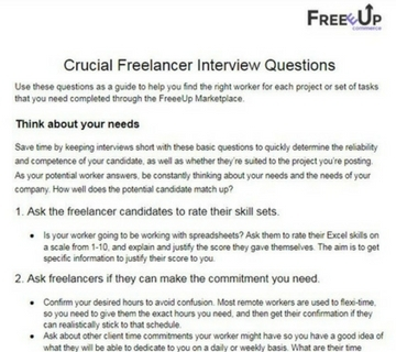 freelancer interview questions 360x320