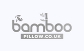 bamboo pillow 165x100 grey