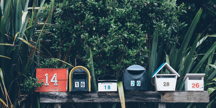 Images of mail boxes for article on email virtual assistant
