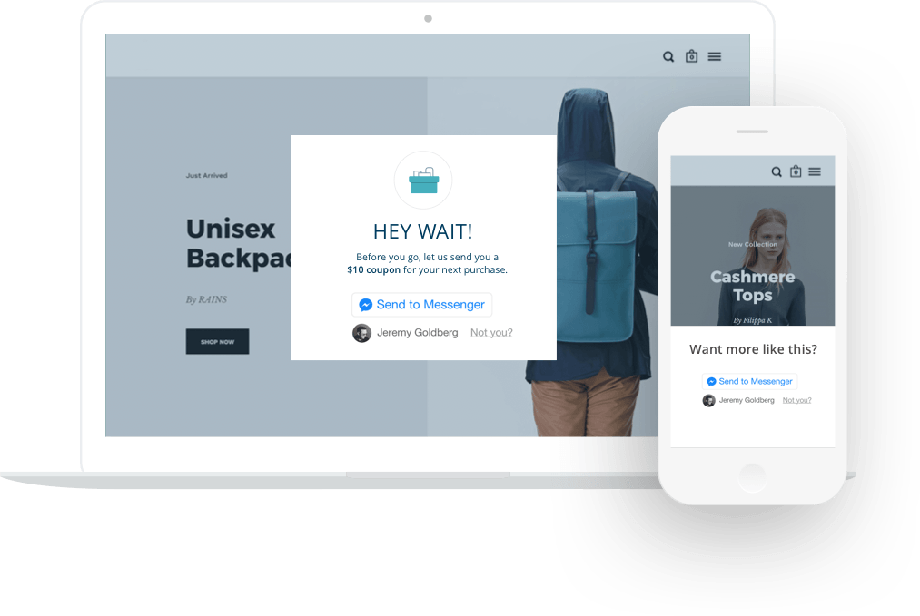 sales using chatbots popup