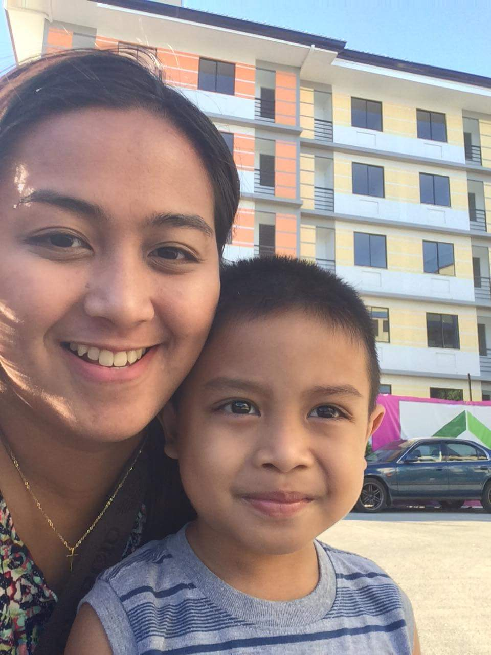 Jane with her son, Andreo.