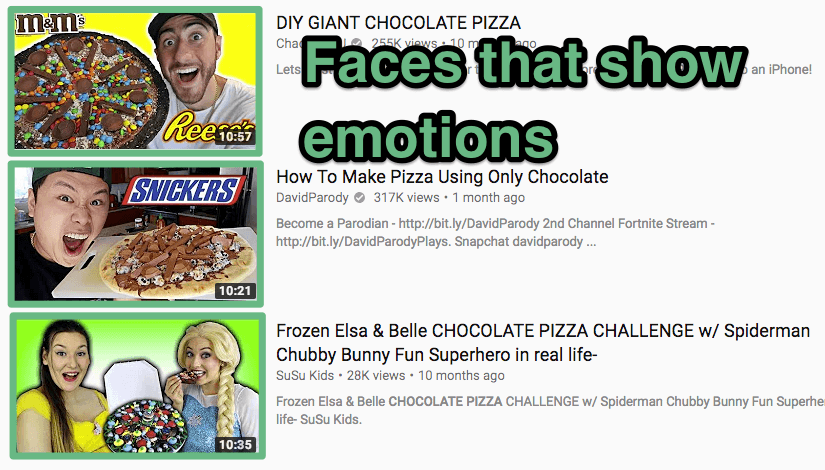 YouTube SEO faces emotions