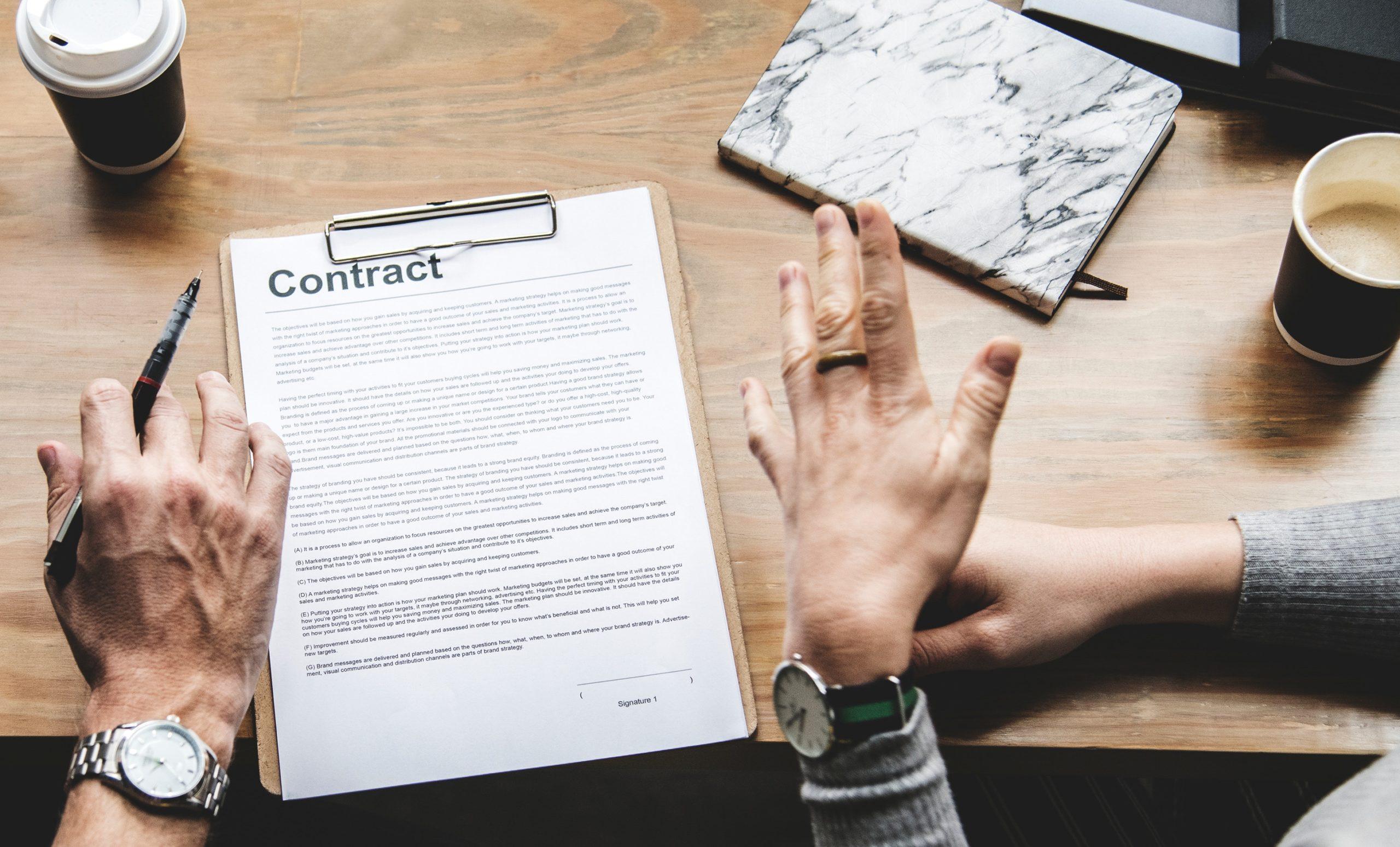 hiring seo contract