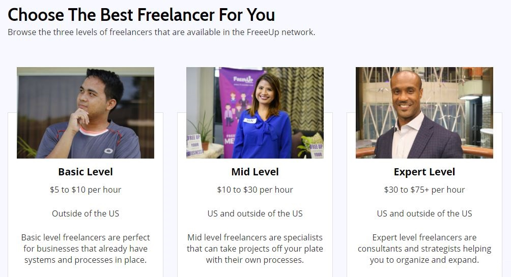 FreeeUp Marketplace international freelancers