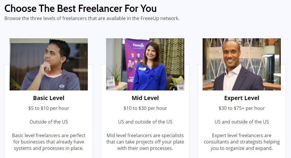 FreeUp Marketplace international freelancers