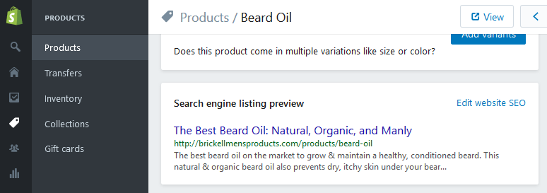 profitable product listing