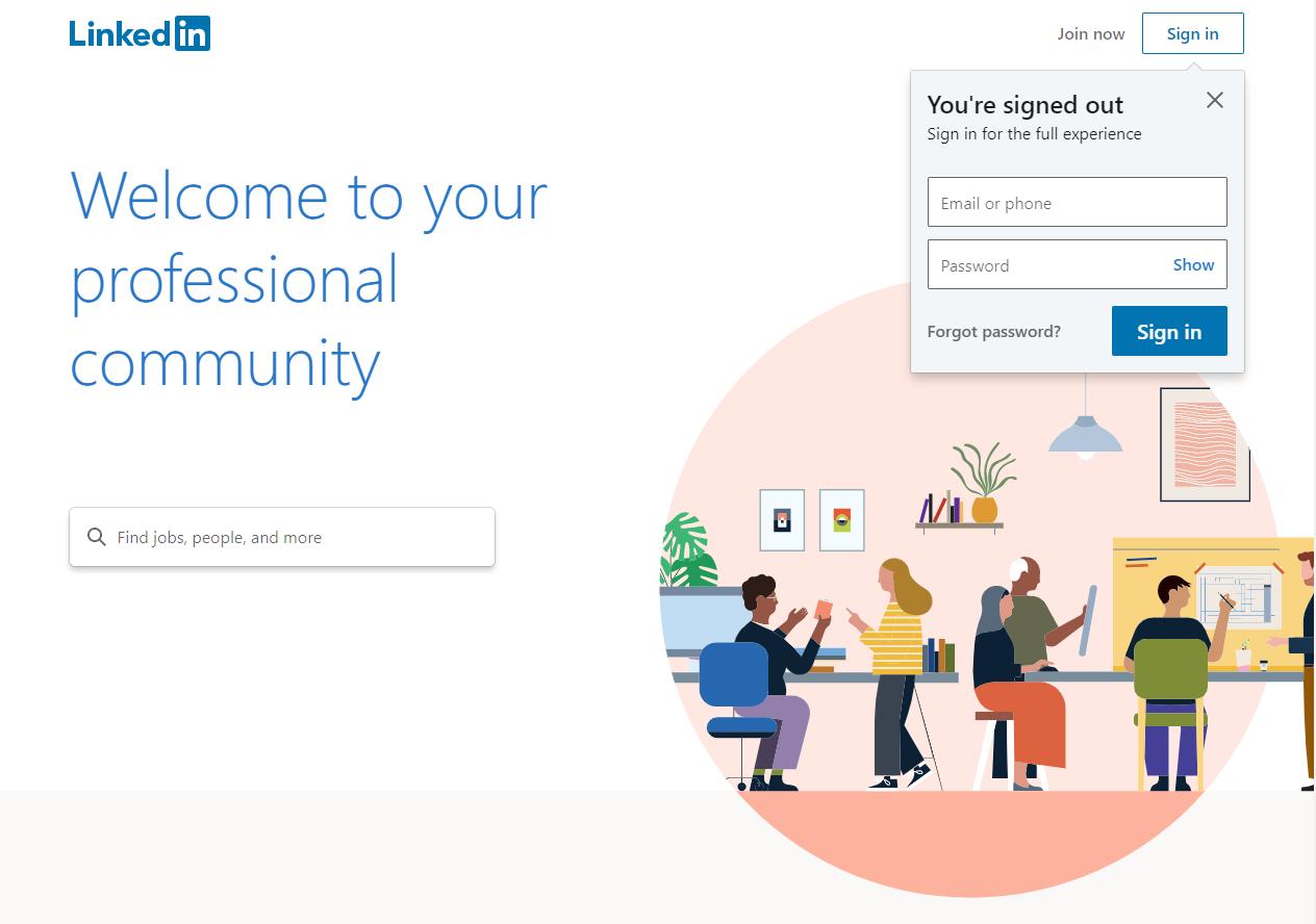 linkedin site screenshot