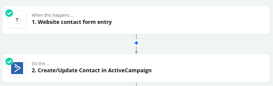 automate Zapier website contact form