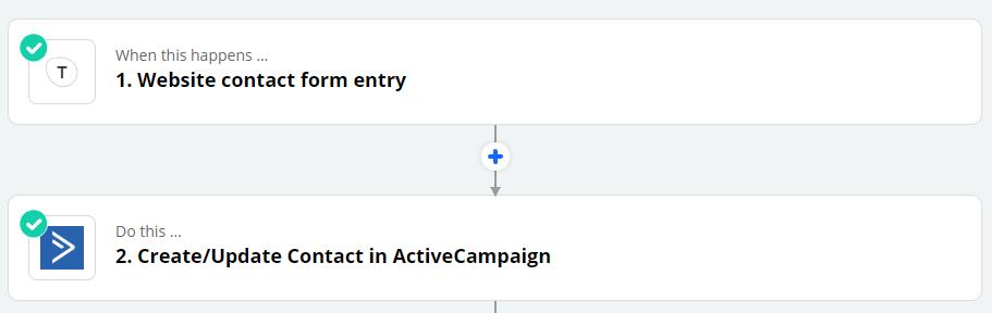 automate Zapier website contact form
