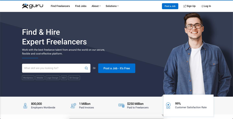 freelance online on Guru