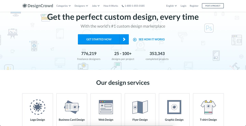 freelance online using DesignCrowd