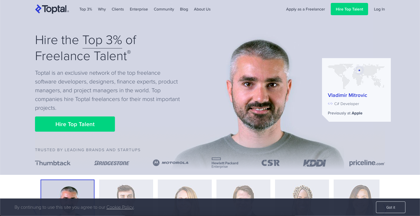 freelance online with Toptal