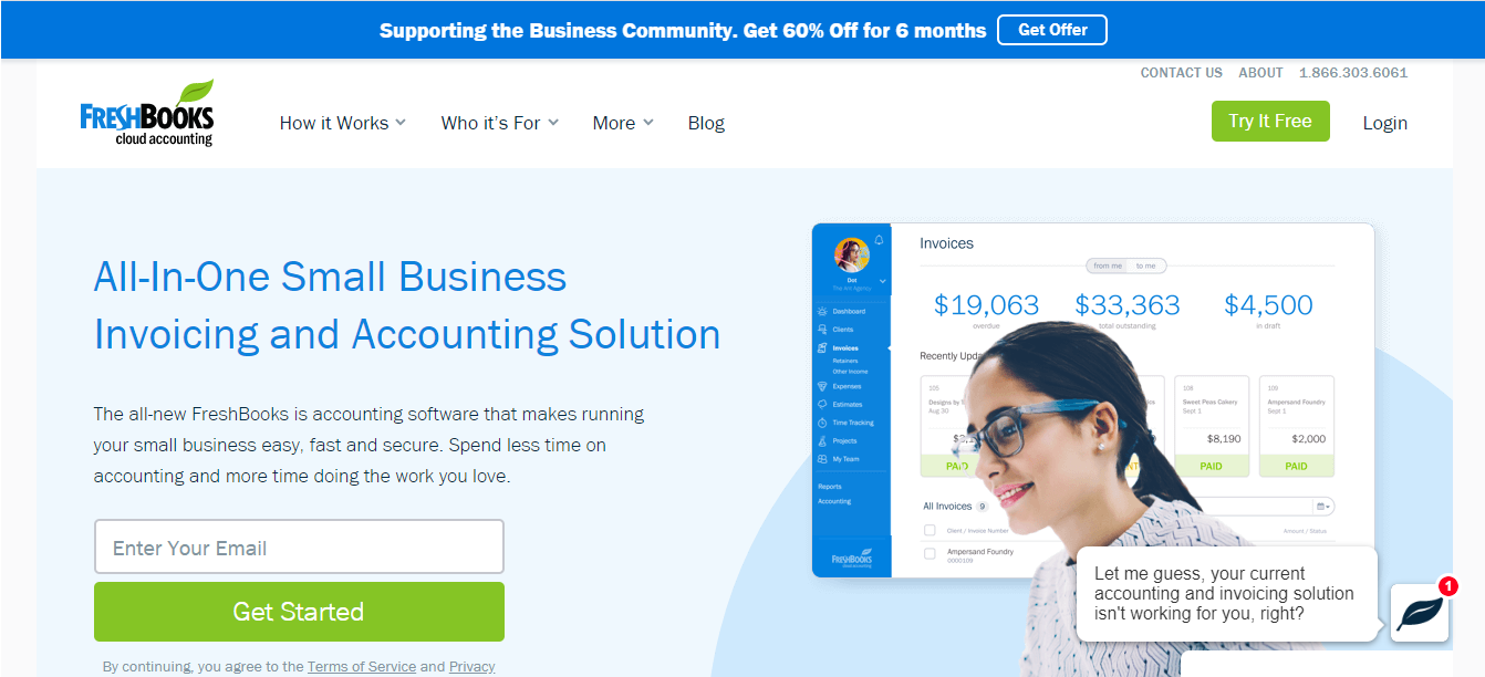 Freshbooks website