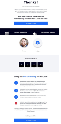 leadpages thank you page