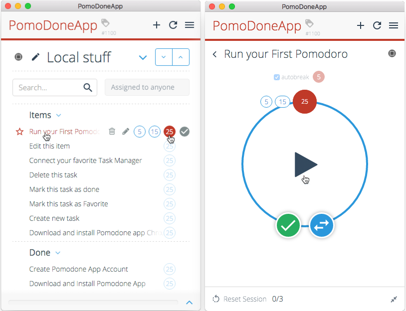 PomoDone App screenshot