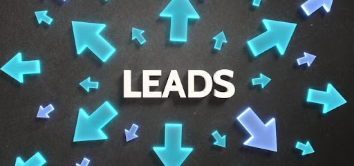 "graphic representation showing the word ""Leads"" in the middle surrounded by differently sized arrows pointing different directions outward."