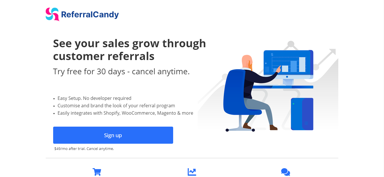 screenshot of Referral Candy