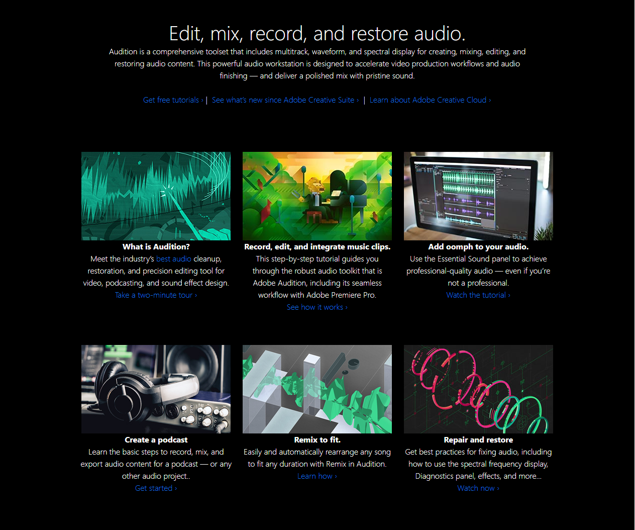 screenshot of Adobe Audition podcast tool