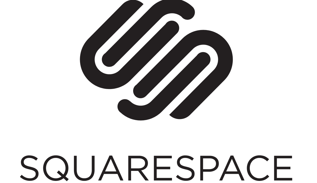 picture of logo and brand name of Squarespace