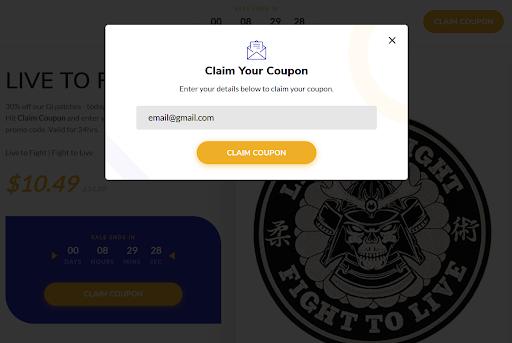 screenshot of an Amazon coupon promotion