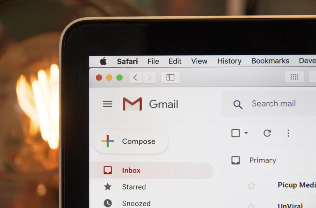 image of gmail inbox